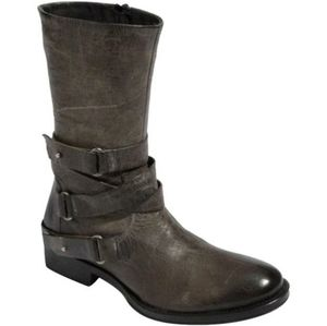 Vera Wang Kippy Distressed Leather Moto Ankle Boot